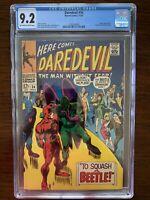 Daredevil #34 CGC 9.2 (Marvel 1967) Beetle appearance and origin retold.  Key!