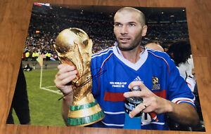 Zinedine Zidane Signed 11x14 France World Cup Photo with proof