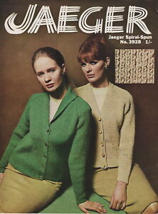 Original Vintage Jaeger knitting pattern 3928 - Ladies cardigans - 1960s