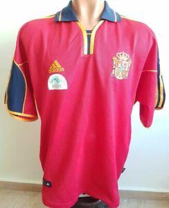 SPAIN NATIONAL TEAM 2000/2001/2002 HOME FOOTBALL SHIRT#12   JERSEY ADIDAS SIZE L