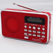 Portable de Poche LCD Numérique AM FM Radio Speaker USB TF AUX lecteur MP3 Lampe de Poche