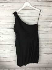 COAST One shoulder Dress - Size UK16 - Black - Great Condition