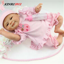 "17"" Lifelike Reborn Baby Dolls Handmade Soft Vinyl Lovely Newborn Baby Girl Toy"