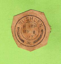 #D223. Queen Victoria Impressed Envelope Stamp With 1897 Rushen Iom Cancel