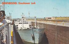 Peerless British American Ship Eisenhower Lock Massena New York Postcard 1960's