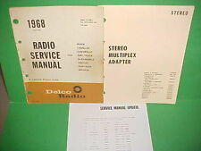 1968 CORVETTE CAMARO FIREBIRD GTO DELCO FM STEREO ADAPTER RADIO SERVICE MANUAL