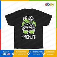 Mom Life Mothers Day Weed Marijuana Cannabis Pot T-Shirt Black S-5XL