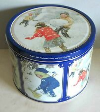 Children Playing in Snow Old Fashion Graphics Metal Tin Butter Cookies FREE SH