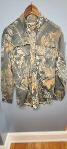 Fieldstaff Twill Camo Vented Shirt Men's Small Button Up Long Sleeve EUC Pockets