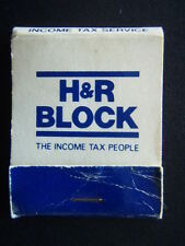 H&R BLOCK THE INCOME TAX PEOPLE YEAR-ROUND TOTAL TAX SERVICE MATCHBOOK