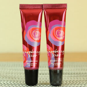 Bath & Body Works - Raspberry Kiss - Lip Gloss - NEW - Lot of 2 - Fast Shipping!