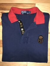 Men's Ralph Lauren POLO HMS Bleecker Polo Shirt metal crest anchor & crown Large