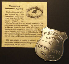Pinkerton National Detective Agency Badge, Old West, western