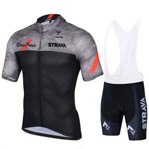 2021 Summer Mens Team Cycling Clothing Short Sleeve Bike Jersey Bib Shorts Sets
