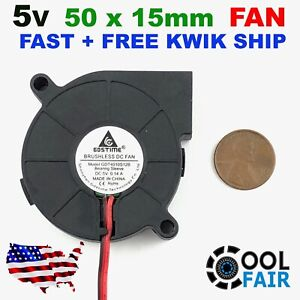 5v 50mm DC Blower Radial Cooling Fan 5015 Hotend Extruder for 3D Printer 2Pin