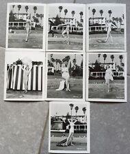7 Photos de DOROTHY ABBOTT par BUD FRAKER Piscine Maillot de Bain 1950 *