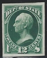 US Stamps - Scott # O64P4 - Department of State - Plate Proof on Card    (C-169)
