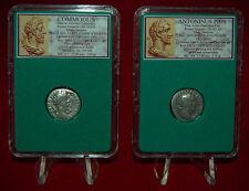 New ListingAncient Roman Empire 2 Coins Commodus and Antoninus Pius Silver Denarii