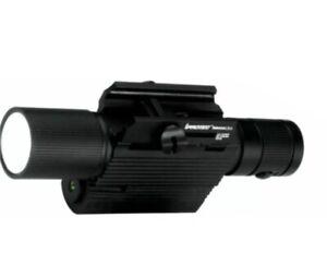 NEBO 6271 iPROTEC RM400LSG 400 lumen rail mount gun flashlight with green laser