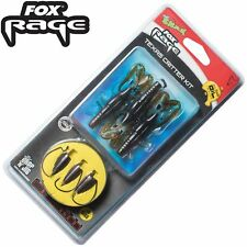 Fox Rage Rage Texas Critter Kit 1m 0,27mm 5,15kg 12g Gr. 3/0- 3 Rigs für Zander