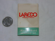 Loredo, Tx Gateway to Mexico Miracle Match Mending Kit 1964