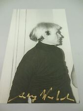 "ANDY WARHOL HAND SIGNED SPECIAL  PRINT IN GOLD PEN ""ANDY WARHOL""  WITH COA"