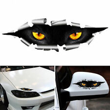 2Pcs 3D Car Styling Cool Cat Eyes Peeking Car Sticker Waterproof Auto Accessory