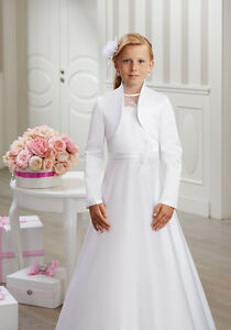 Bolerojacke Jacke Bolero Kommunion Blumenmädchen Hochzeit Kommunionjacke elegant