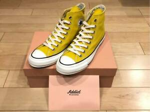 Converse Addict CHUCK TAYLOR Canvas HI Mustard ALL STAR 100th birthday US 9.0