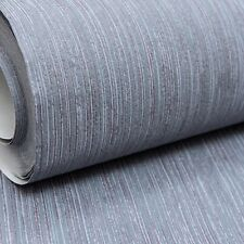 Plain Charcoal Dark Grey Red Textured Wallpaper Paste the Wall Non Woven Vinyl