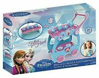 Frozen Disney 2 in 1 Princess Tea Tray Party Pretend Play Trolley Kids Girls