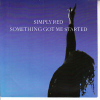 """SIMPLY RED  Something Got Me Started PICTURE SLEEVE 7"""" 45 rpm vinyl record RARE"""