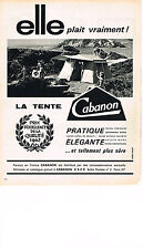 PUBLICITE ADVERTISING  1962   CABANON  camping tente