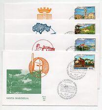 1994 REPUBBLICA BUSTE FDC SERIE TURISTICA V/1068