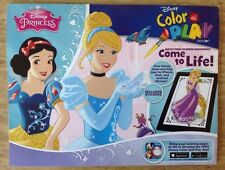 NEW Disney Princess Color & Play Book - Download App & Pictures Come To Life 3D