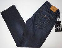 NWT $189 True Religion Ricky Relaxed Straight Denim Jeans Mens Dark Blue NEW