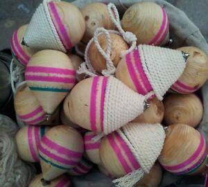 Turkish Wooden Ball Spinner Top Trompo Spinning Rope/Handmade Topac-nostalgic