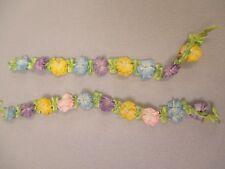 Antique victorian Silk Ribbon work ribbon Rose Rosettes set of 2
