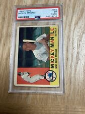1960 Topps Mickey Mantle New York Yankees Card #350 PSA 1