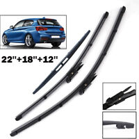 Front Rear Windscreen Wiper Blades For BMW 1 Series 2012-> F20 12,62,13,63,14,64