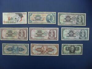 9No. 1923 ONWARDS BRAZIL (L.AMERICA) BANKNOTES 1/2/20/5000/10000 CRUZEIROS