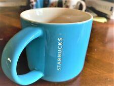 Coffee Mug Starbucks - porcelain ceramic- teal - excellent condition- 14 floz.