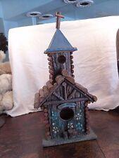 Handmade Bird House Log Church