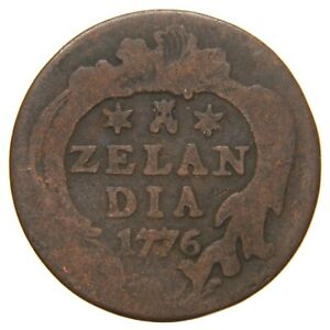 NETHERLANDS (ZEELAND) - 1776 Duit - Year of American Independence