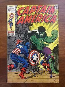 Captain America #110 (1969) VF+ 8.5 1st Madame Viper Steranko Art 🔥HIGH GRADE🔥