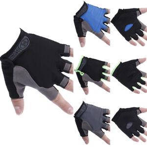 Women Men Sport Cycling Fitness GYM Workout Exercise Half Finger Gloves Bike &BI