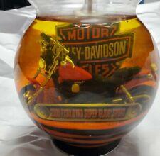 Harley Davidson 12 Oz Candle Chrome Jar Cinnamon 2002 Unburned Not Used