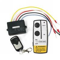 New 12V 12 Volt Wireless Remote Control Kit for Truck Jeep ATV Winch Warn Ramsey