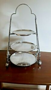 Vintage Silver plated 3 tier cake stand