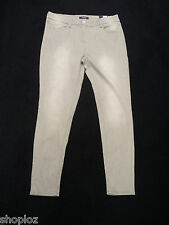 M&S Collection Sizes 12 24 Stretch Light Grey Faded Denim Jeggings Bnwt 30L 32L